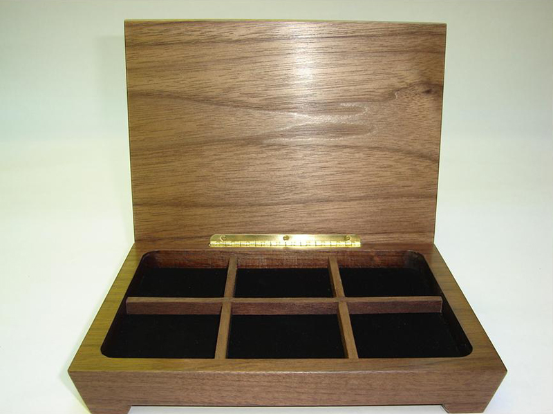 17   5.5 x 8 in. Earring Box, Open