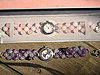Above: 8mm Amethyst beaded Bracelet Watch $65.00 below: 8mm Rose Quartz beaded Bracelet Watch $60.00
